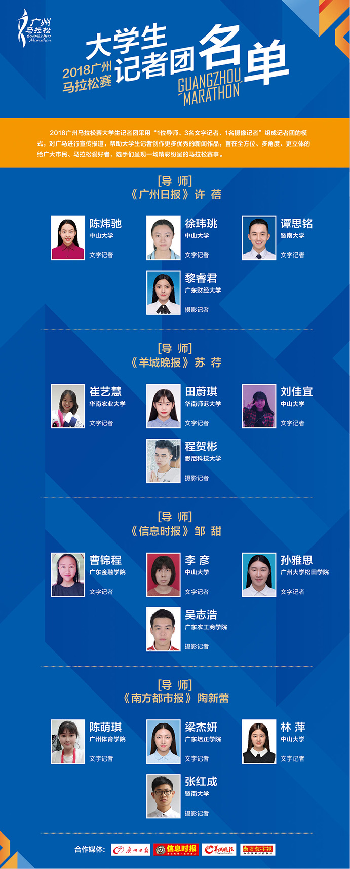 大学生记者团面试_2018广州马拉松赛大学生记者团名单公布-2019广州马拉松赛